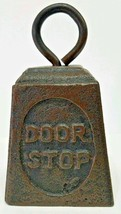 Kettle Bell Cast Iron Door Stop Vintage Style D... - $28.79