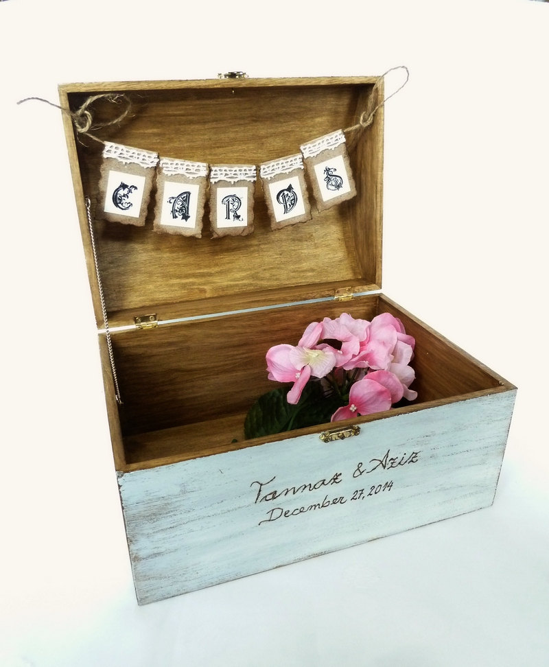 Card Box Ideas For Wedding Reception: Rustic Wedding Card Box Holder Wedding Reception Decor