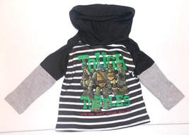 Teenage Mutant Ninja Turtles Toddler Boys Hooded Long Sleeve Shirt Size ... - $9.79