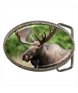 Canadian Moose Chrome Finished Belt Buckle - $10.41