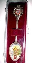 Frankfurt Germany souvenir spoon-porcelain emblem on top & in bowl vinta... - $2.99