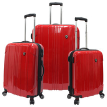 Traveler's Choice Red Sedona Pure Polycarbonate 3-Piece Spinner Luggage ... - $227.69