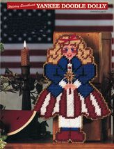 Plastic Canvas Patriotic Miss Dolly Banner Bandbox Flag Notebook Pattern - $9.99