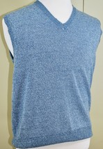 WinterSilks Mens Sweater Vest - Blue Marled Heather - 100% Silk - Size M/L - $29.60