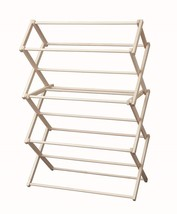 Clothes Drying Rack Folding Solid Wood Laundry Amish Made In Usa, 36w X 52½h - $114.63