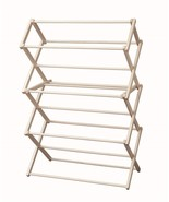 CLOTHES DRYING RACK  Folding Solid Wood Laundry Amish Made in USA, 36w x... - $114.63