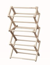 """Folding Drying Rack Collapsible Amish Handmade 20w"""" X 37½""""h Laundry Clothes Usa - $75.82"""