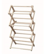 """FOLDING DRYING RACK Collapsible Amish Handmade 20w"""" x 37½""""h Laundry Clot... - $75.82"""