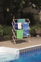 Large Folding Drying Rack Amish Handmade - 40W X 60H X 19½D Maple Laundry Usa - $132.27