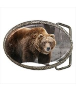 Grizzly Bear Chrome Finished Belt Buckle - $9.86