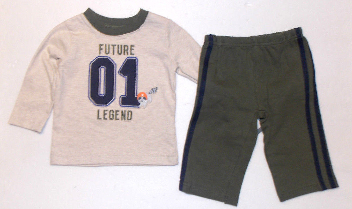 c4307426de245 Child of Mine Infant Boys 2pc Outfit Future Legend Size 3-6 Months NWT