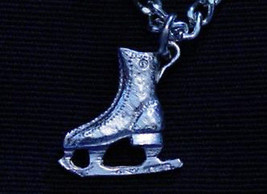 .925 Sterling Silver Skating Skates ICE Charm Pendant - $16.30
