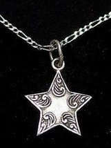 Sterling silver 925 Celtic Shooting Star Pendant Charm - $14.87