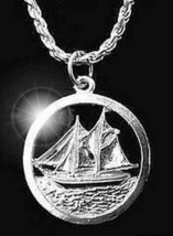 Blue Nose II Canadian dime sterling silver boat charm - $19.15
