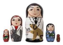 "Veterinarian Nesting Doll - 5"" w/ 5 Pieces - $36.00"