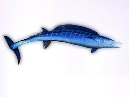 Wahoo fish wooden hand carved from Florida palm tree frond wall art - $74.00