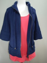 Lane Bryant Navy Blue Zip Front Cardigan Sweater Pockets + Tank -  Size ... - $29.60