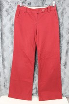 ANN TAYLOR LOFT BRICK RED MARISA FIT TROUSER PA... - $12.99
