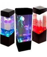 Aquarium LED Relaxing Desk Lamp Night Light Bedside Table Motion LED Jel... - $29.26