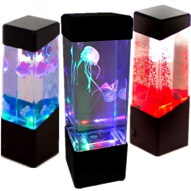 Aquarium LED Relaxing Desk Lamp Night Light Bedside Table