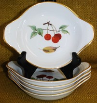 *5* Royal Worcester EVESHAM GOLD Porcelain - Individual Au Gratin Cherries - $49.49