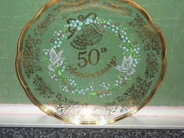 vintage 1984 g.z. lefton co. 50th anniversary plate collectible  - $17.99