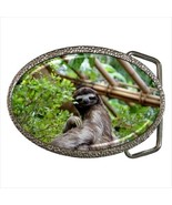 Sloth Chrome Finished Belt Buckle - $9.86