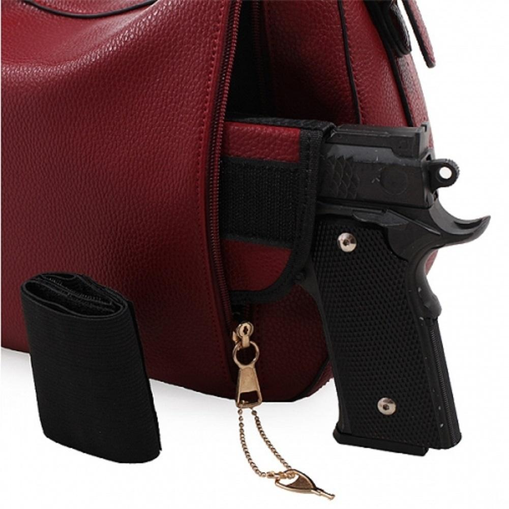 ... Brown Chloe Lock and Key Concealed Carry Purse W Matching Wallet ... 453f7b952b4a2