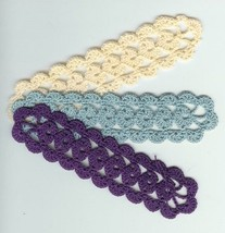 "Crochet Bookmarks, Chain of Hearts, SEE ""SHOW V... - $2.97 - $3.47"