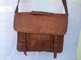 2017 Men's Vintage Looking Leather Messenger Bag Briefcase Shoulder Bag Handmade image 3