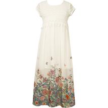 Big Girl Tween 7-16 Crochet Lace Chiffon Border Maxi Dress, Bonnie Jean image 2