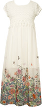 Little Girl 2T-6X Crochet Lace Chiffon Border Maxi Dress, Bonnie Jean