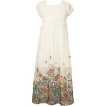 Little Girl 2T-6X Crochet Lace Chiffon Border Maxi Dress, Bonnie Jean image 2