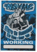 N SYNC n sync Working backstage Satin Cloth PASS tour collectible '99 - $11.87