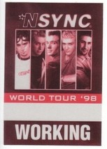 N SNYC n sync backstage Satin Cloth PASS tour collectible '98 WORKING - $11.38