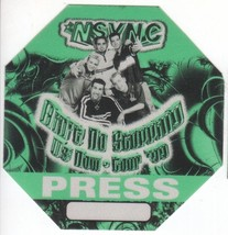 N SYNC n sync backstage Satin Cloth PASS tour collectible PRESS '99 - $11.87