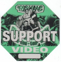 N SYNC n sync  backstage pass Tour Satin cloth collectible VIDEO - $11.87