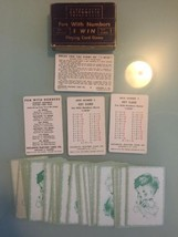 Set of 54 Vintage Arithmetic Fun with Numbers I Win Playing Card Games 1951 - $17.74