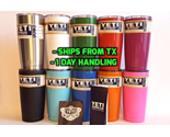 YETI 20oz Rambler Tumbler - PICK YOUR COLOR - Cup Powder Coated 20 oz Red Blue