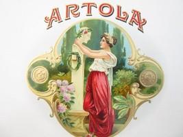 Orig ARTOLA Cigar Box Embossed Label Insert Art... - $12.82