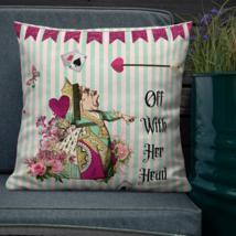 Alice In Wonderland Green Garden Patio Sofa Decorative Pillow Cushion  - $23.99+