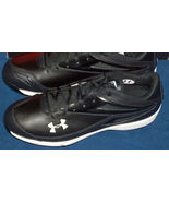 NEW UNDER ARMOUR MENS SZ 12.5 CLEAN UP BASEBALL CLEAT SHOE NIB BLACK WHITE - $18.40
