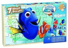 Disney Finding Dory 7 Wood Puzzle Box  by Cardinal  - $14.81