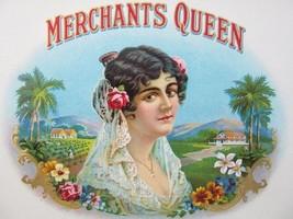 Original MERCHANTS QUEEN Cigar Box Embossed Lab... - $5.93
