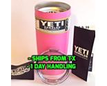 YETI - AUTHENTIC 20oz Rambler Tumbler Cup Mug HOT PINK MATTE Powder Coated 20 oz