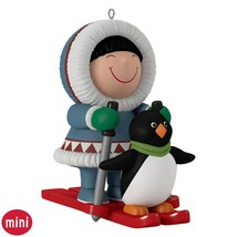 Frosty Little Friends 2016 Hallmark Ornament Mini Eskimo Penguin Pals Sl... - $12.97