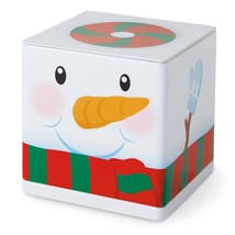 Snowman 2015 Hallmark CUBEEZ   Frosty  Metal Box Container Red Green Whi... - $12.25