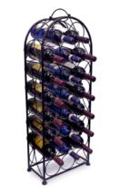 Elegant 23 bottle Free-Standing Metal Wine Rack... - $55.55