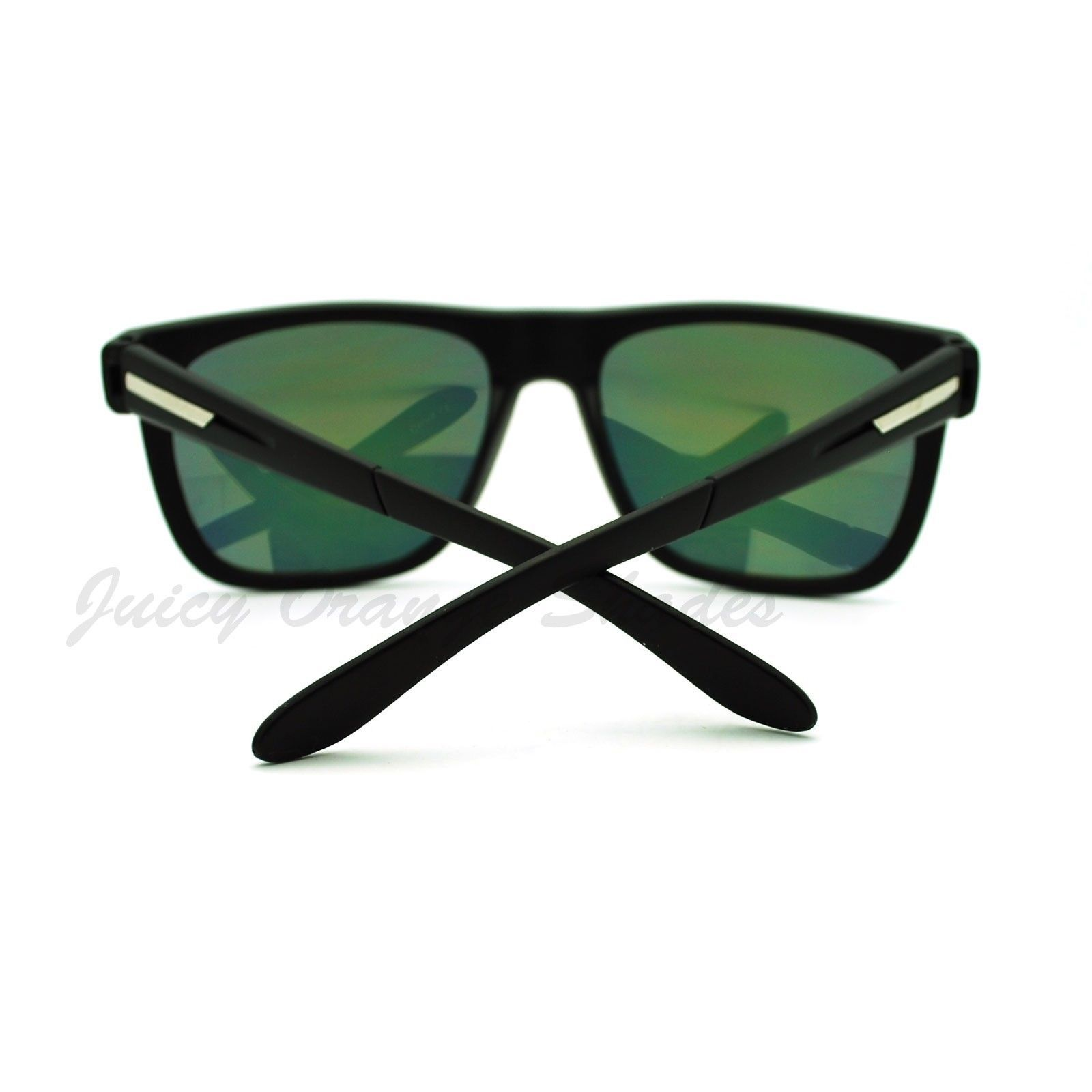 Sporty Fashion Sunglasses Square Matte Frame Multicolor Reflective Lens