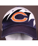 Chigago Bears Hat-Sharktooth-Hook/Loop-Reebok-NFL Football-3D Logo - $28.04